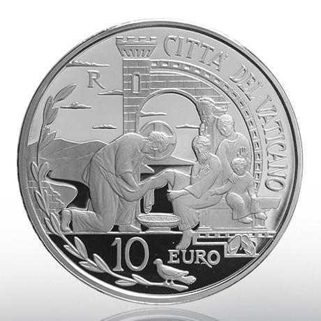 10 euro Vatican 2019 argent BE - Journée mondiale de la Paix Avers