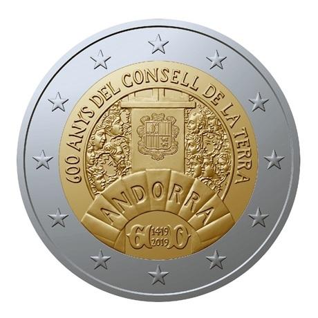 2 euro commémorative Andorre 2019 BU - Conseil de la Terre