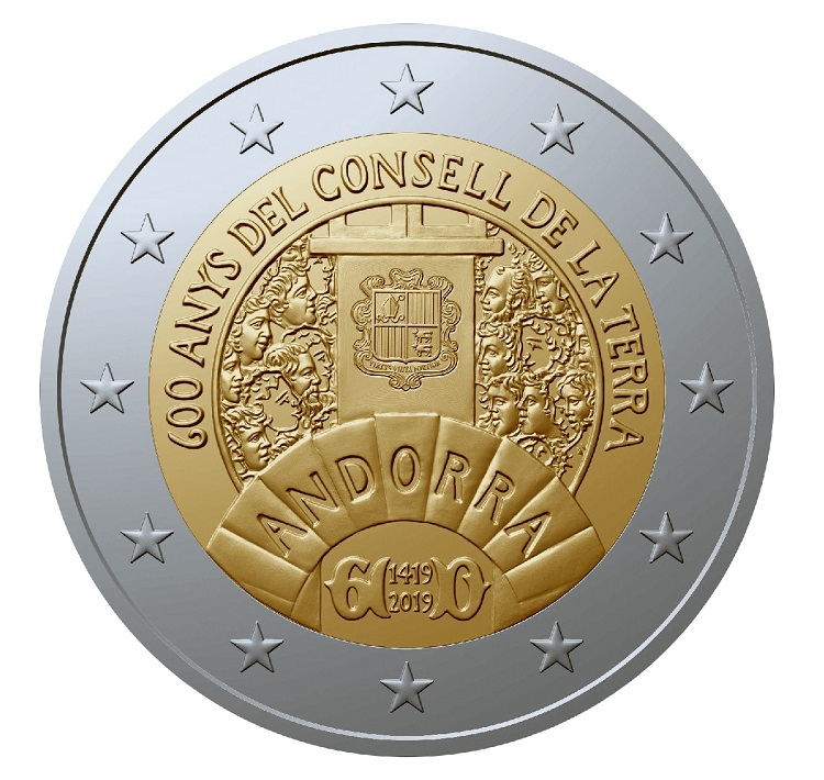 2 euro commemorative coin Andorra 2019 BU - Earth Council (zoom)