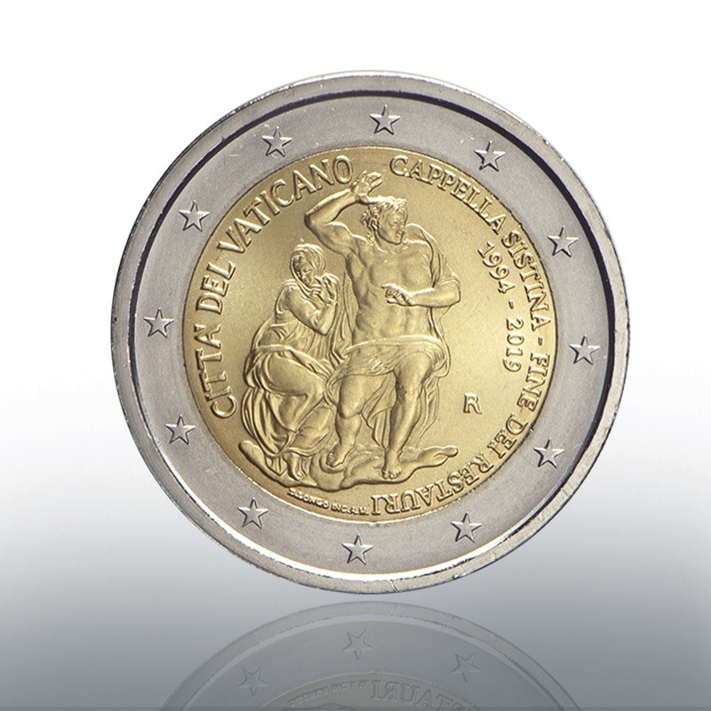 2 euro commemorative coin Vatican 2019 BU - Sistine Chapel Obverse (zoom)