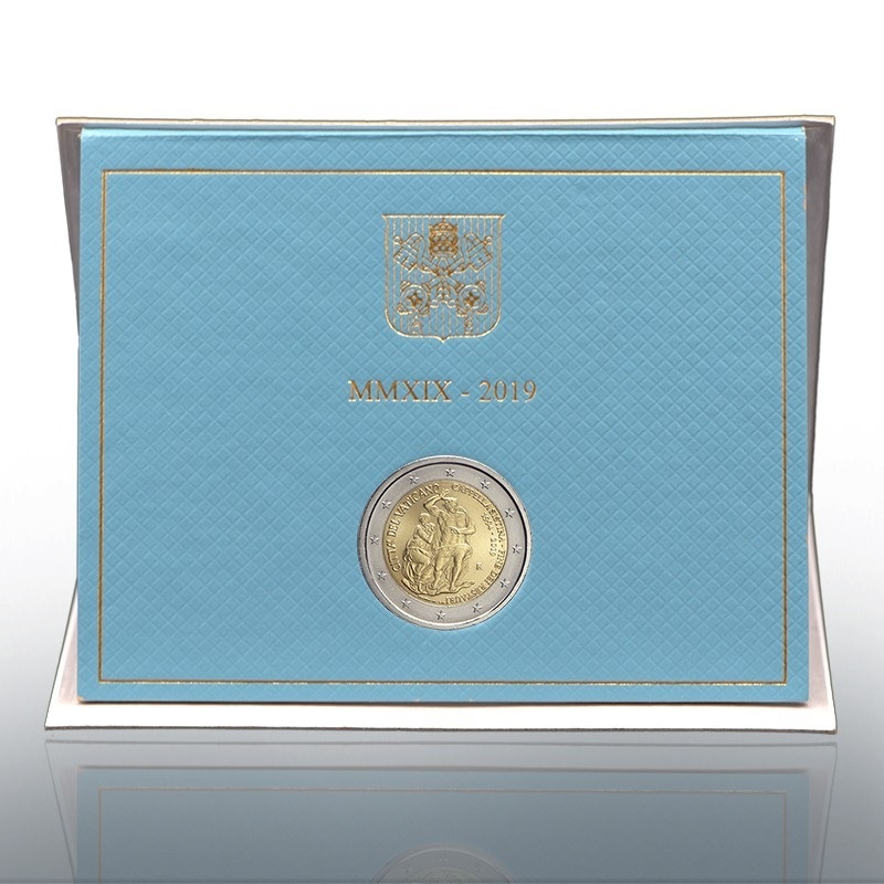 2 euro commemorative coin Vatican 2019 BU - Sistine Chapel (zoom)