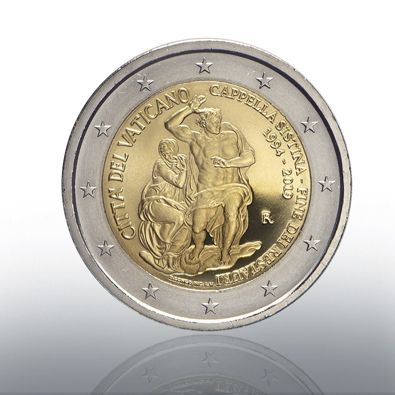 2 euro commemorative coin Vatican 2019 Proof - Sistine Chapel Obverse (zoom)