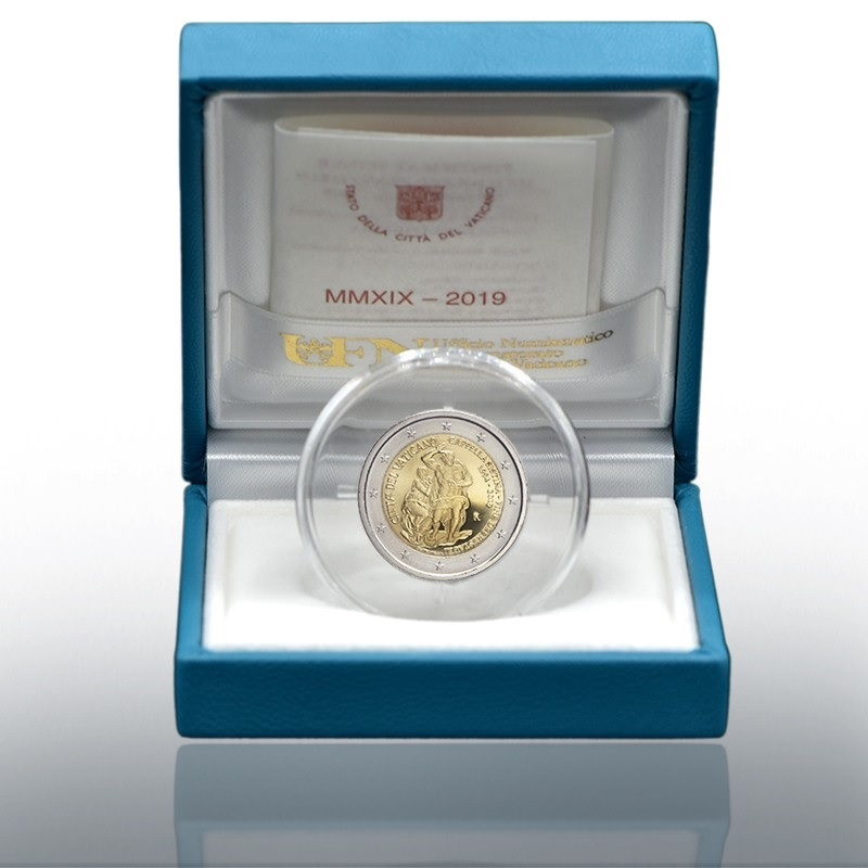 2 euro commemorative coin Vatican 2019 Proof - Sistine Chapel (zoom)