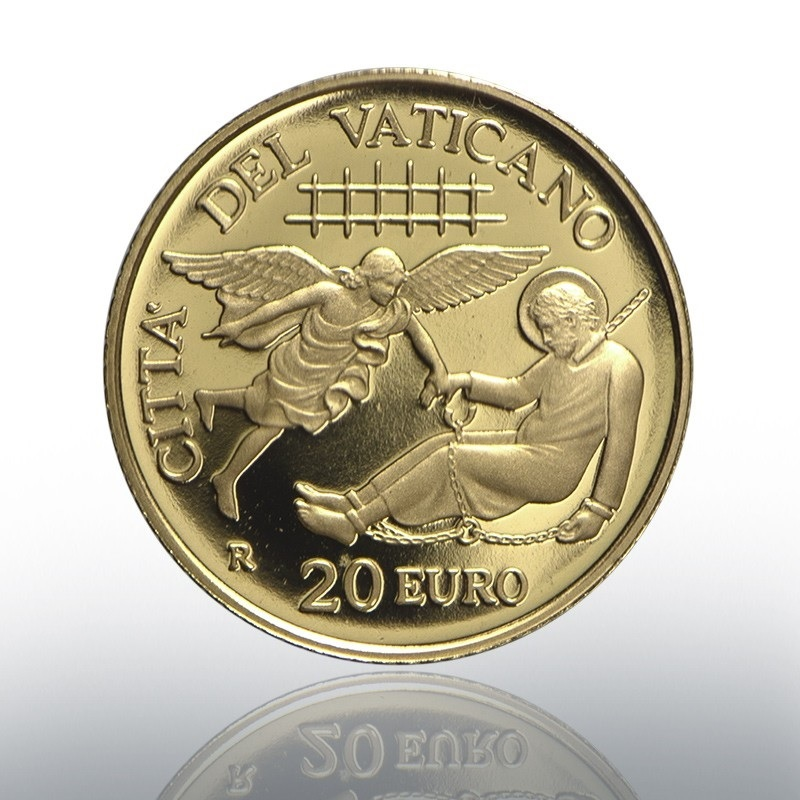 20 euro Vatican 2019 Proof gold - Liberation of Peter Obverse (zoom)
