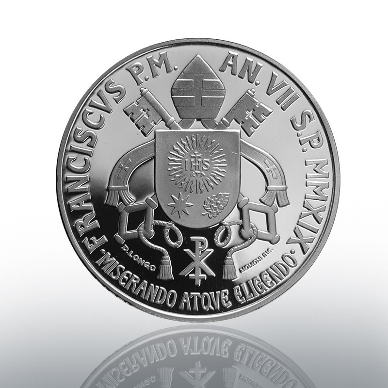 5 euro Vatican 2019 Proof silver - St Peter's Circle Reverse (zoom)