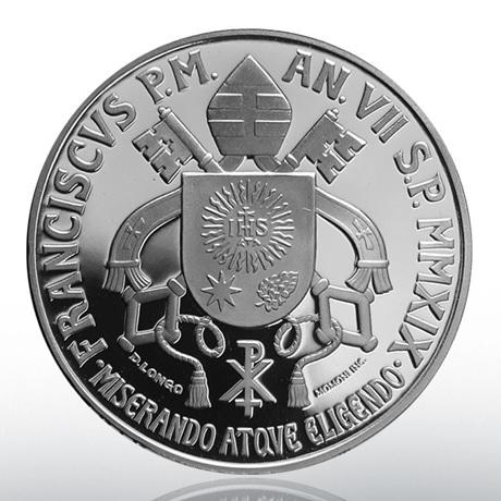 5 euro Vatican 2019 argent BE - Cercle de Saint-Pierre Revers