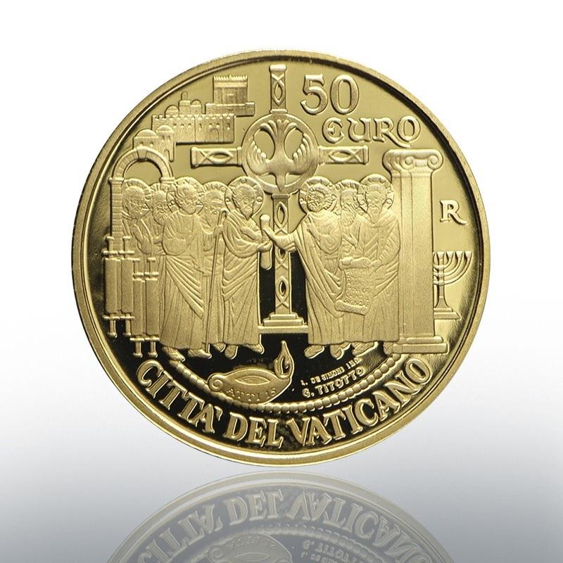 50 euro Vatican 2019 Proof gold - Council of Jerusalem Obverse (zoom)
