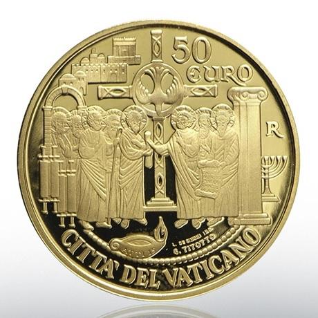 50 euro Vatican 2019 or BE - Assemblée de Jérusalem Avers