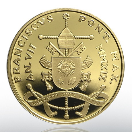 50 euro Vatican 2019 or BE - Assemblée de Jérusalem Revers