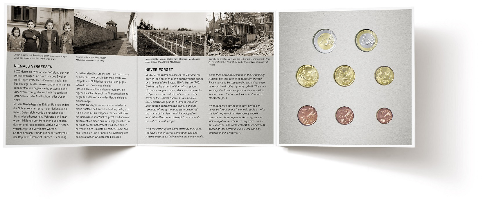 Brilliant Uncirculated coin set Austria 2020 (inside) (zoom)