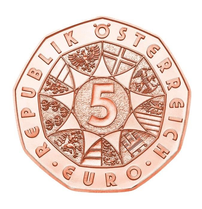 (EUR01.500.2020.23626) 5 euro Austria 2020 - Musikverein Obverse (zoom)