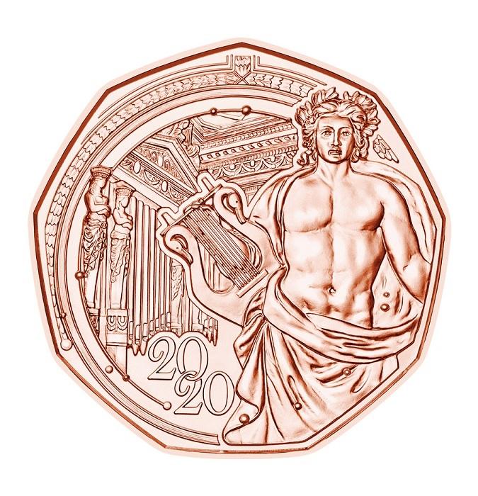 (EUR01.500.2020.23626) 5 euro Austria 2020 - Musikverein Reverse (zoom)