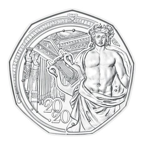(EUR01.ComBU&BE.2020.500.BU.23627) 5 euro Autriche 2020 argent BU - Musikverein Revers