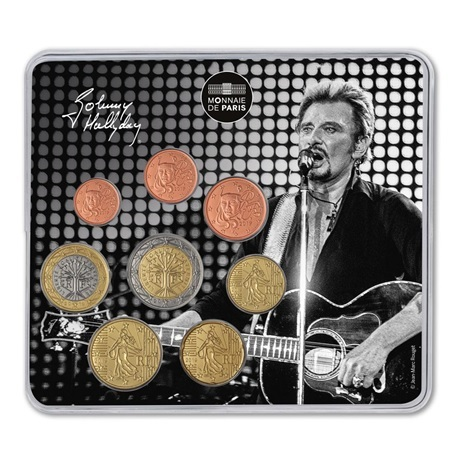 (EUR07.CofBU&FDC.2019.M-S.10041329970000) Mini-set BU France 2019 - Johnny Hallyday et sa guitare Recto