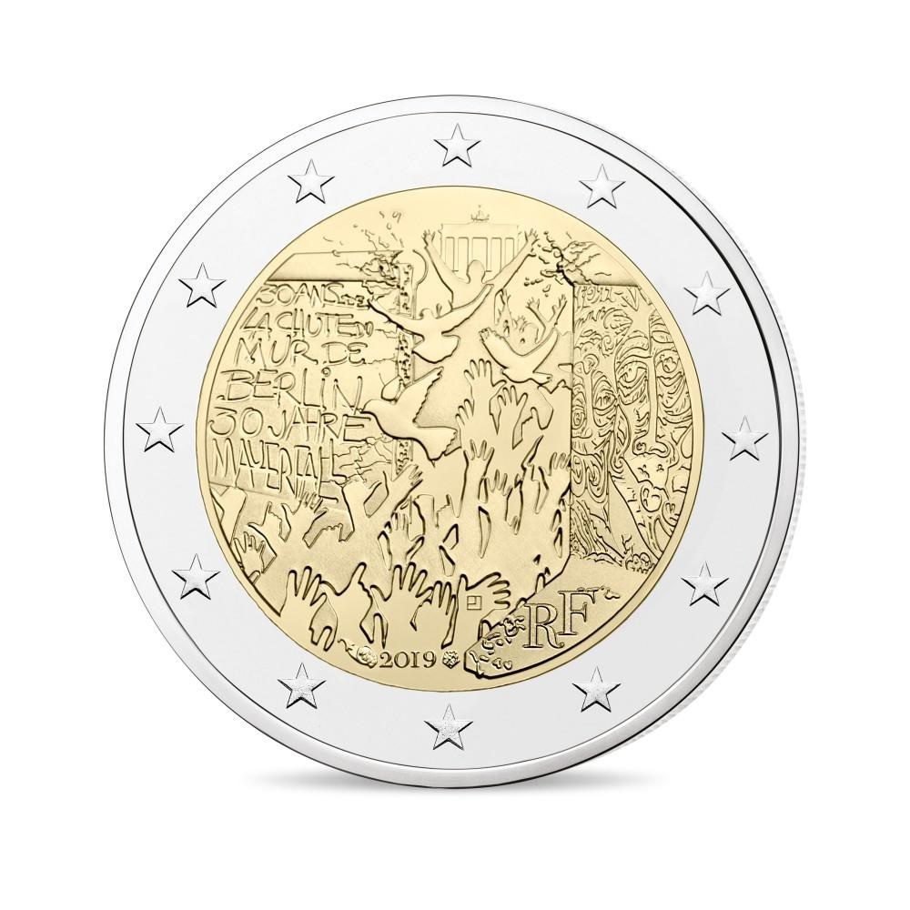 (EUR07.ComBU&BE.2019.200.BE.10041330010000) 2 euro France 2019 Proof - Berlin Wall Obverse (zoom)