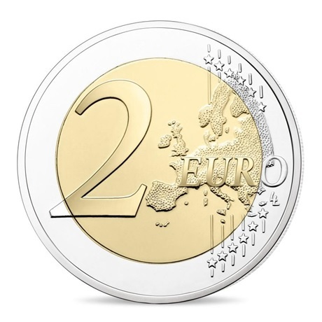 (EUR07.ComBU&BE.2019.200.BE.10041330010000) 2 euro commémorative France 2019 BE - Mur de Berlin Revers