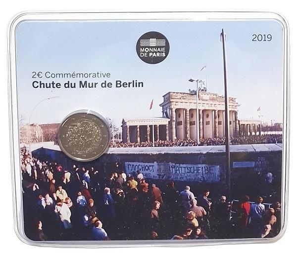 (EUR07.ComBU&BE.2019.200.BU.10041330020000.000000001) 2 euro France 2019 BU - Berlin Wall Front (zoom)
