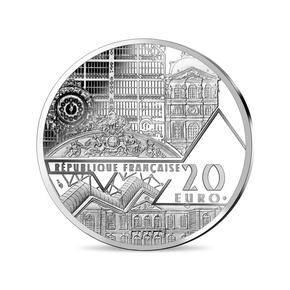 (EUR07.ComBUBE.2019.2000.BE_.10041337790000) 20 euro France 2019 Proof silver - Mona Lisa Obverse (zoom)