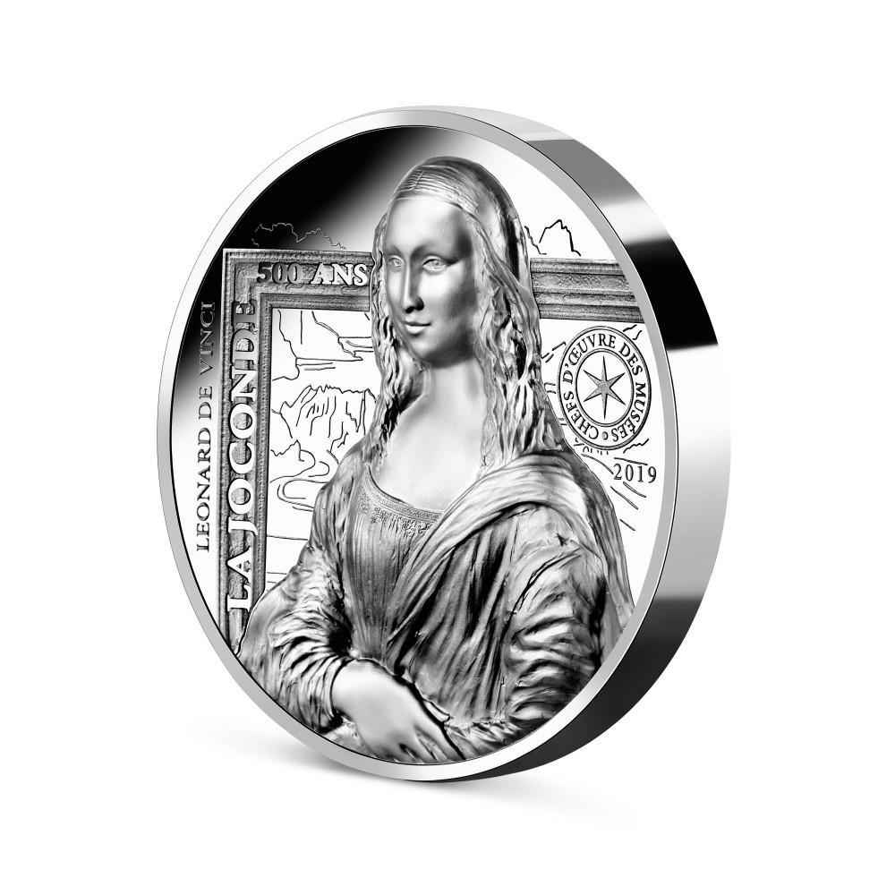 (EUR07.ComBUBE.2019.2000.BE_.10041337790000) 20 euro France 2019 Proof silver - Mona Lisa (edge) (zoom)