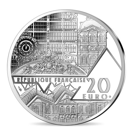 (EUR07.ComBU&BE.2019.2000.BE.10041337790000) 20 euro France 2019 argent BE - La Joconde Avers