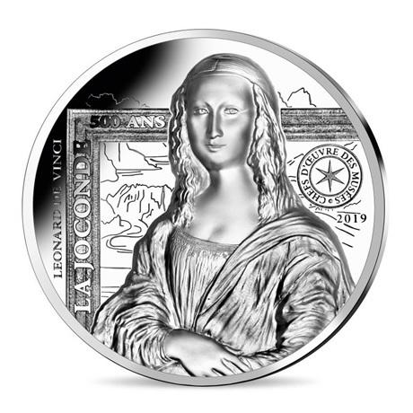 (EUR07.ComBU&BE.2019.2000.BE.10041337790000) 20 euro France 2019 argent BE - La Joconde Revers
