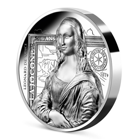 (EUR07.ComBU&BE.2019.2000.BE.10041337790000) 20 euro France 2019 argent BE - La Joconde (tranche)