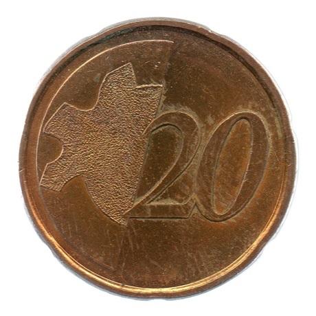 (EUR07.tk020.0.sup.000000001) Training token 20 cent Revers