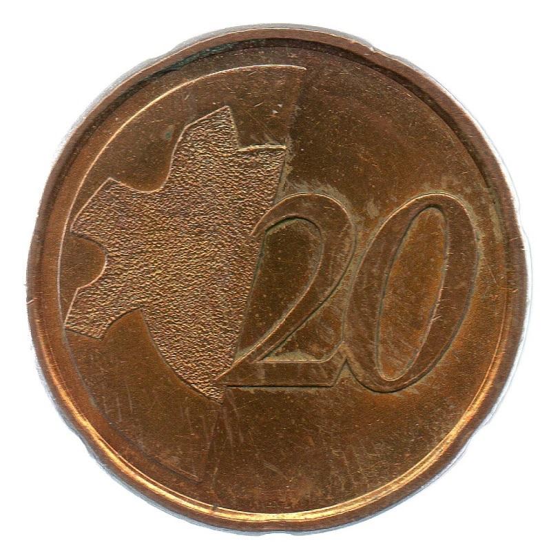 (EUR07.tk020.0.sup_.000000001) Training token 20 euro cent Reverse (zoom)