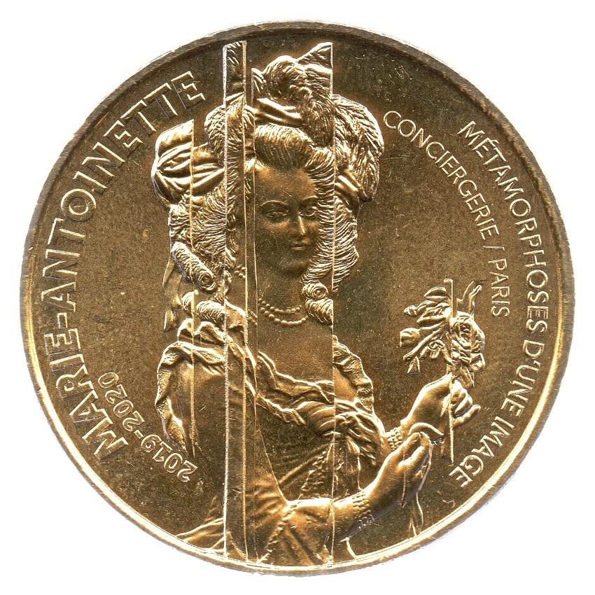(FMED.Méd.souv_.2019.CuAlNi.1.2.spl_.000000001) Memory token - Queen Marie-Antoinette Obverse (zoom)