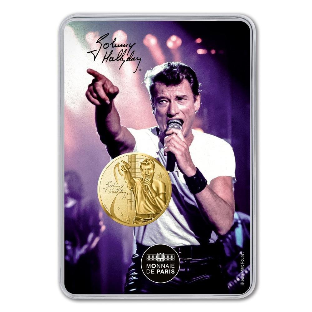(FMED.Méd.souv_.2019.CuAlNi.10011345860000) Memory token - Johnny Hallyday on stage Front (zoom)