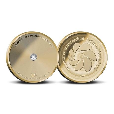 (MED14.Méd.KNM.2019.Au.BE.1) Médaille or BE - Métier du tailleur de diamant