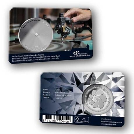 (MED14.Méd.KNM.2019.CuNi.BU.1) Médaille BU - Métier du tailleur de diamant (coin card)