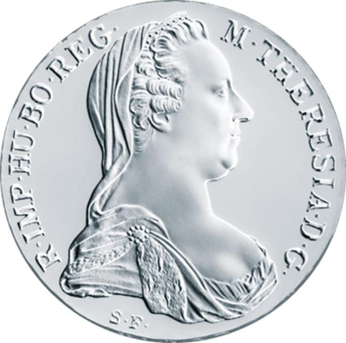 (W018.Thaler.1780.10079) Restrike Thaler Maria Theresa 1780 Obverse (zoom)