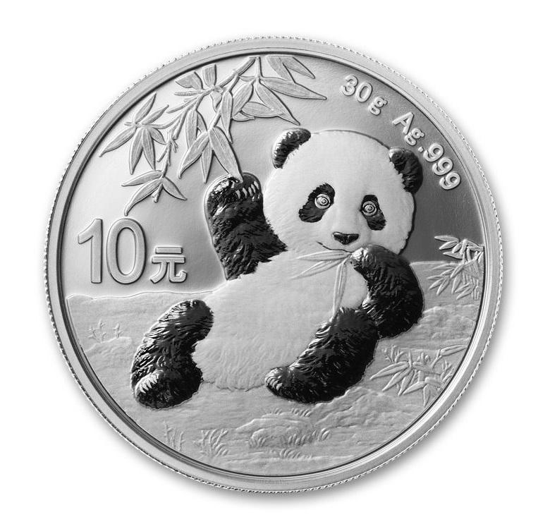 10 Yuan China 2020 30 grams silver - Panda Reverse (zoom)