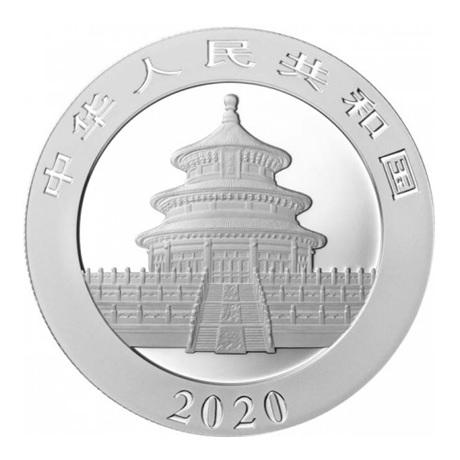 10 Yuan Chine 2020 30 g argent - Panda Avers