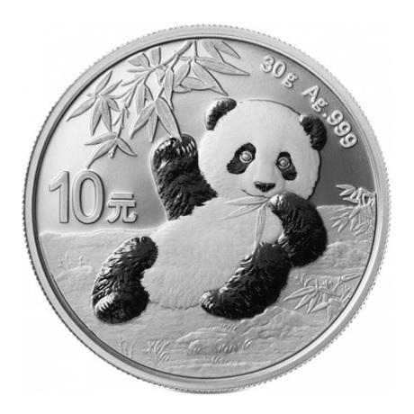 10 Yuan Chine 2020 30 g argent - Panda Revers