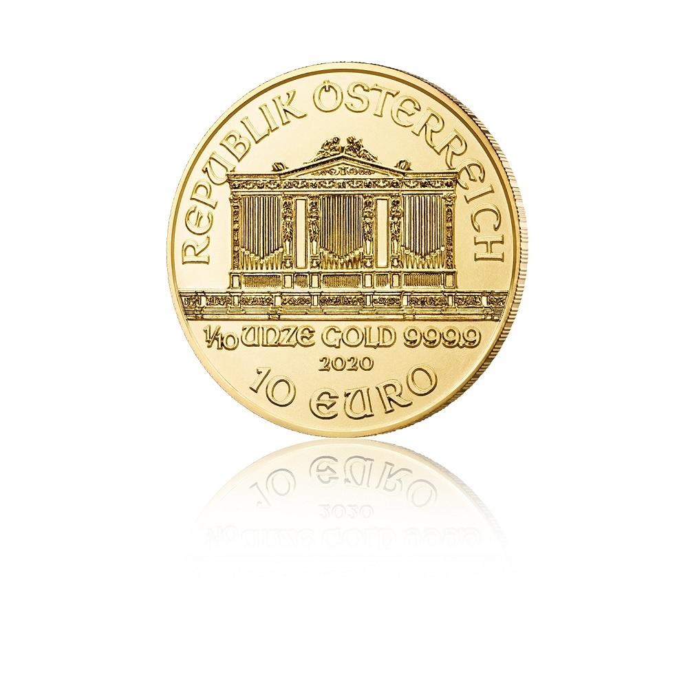 10 euro Austria 2020 0.10 ounce gold - Vienna Philharmonic Orchestra Obverse (zoom)