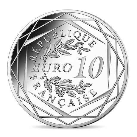 10 euro France 2020 argent - Charles de Gaulle Revers