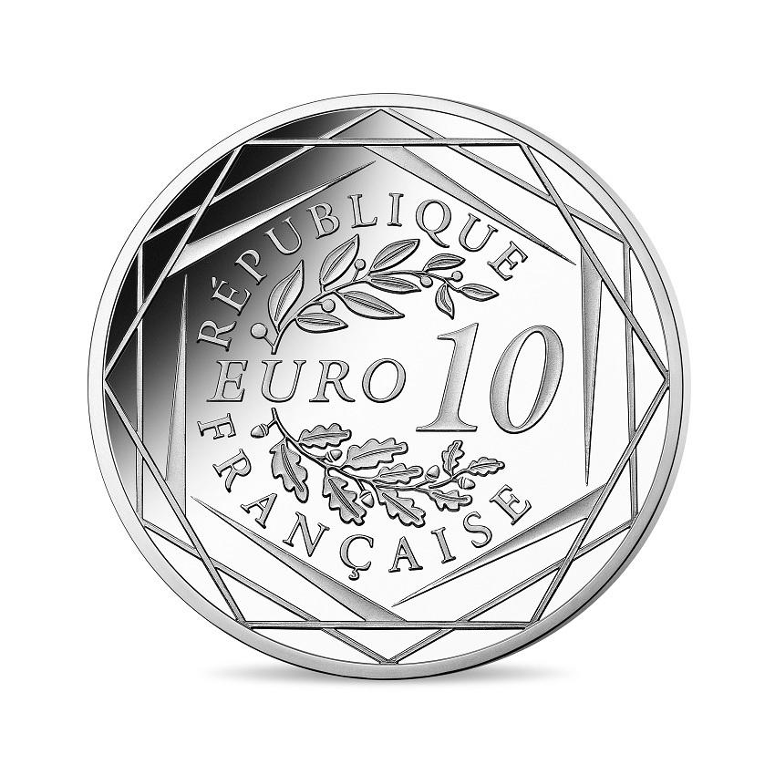 10 euro France 2020 silver - General de Gaulle Reverse (zoom)