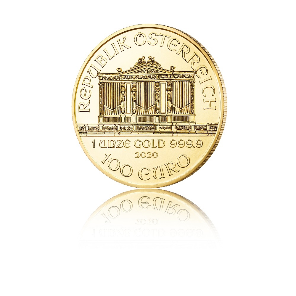 100 euro Austria 2020 1 ounce gold - Vienna Philharmonic Orchestra Obverse (zoom)