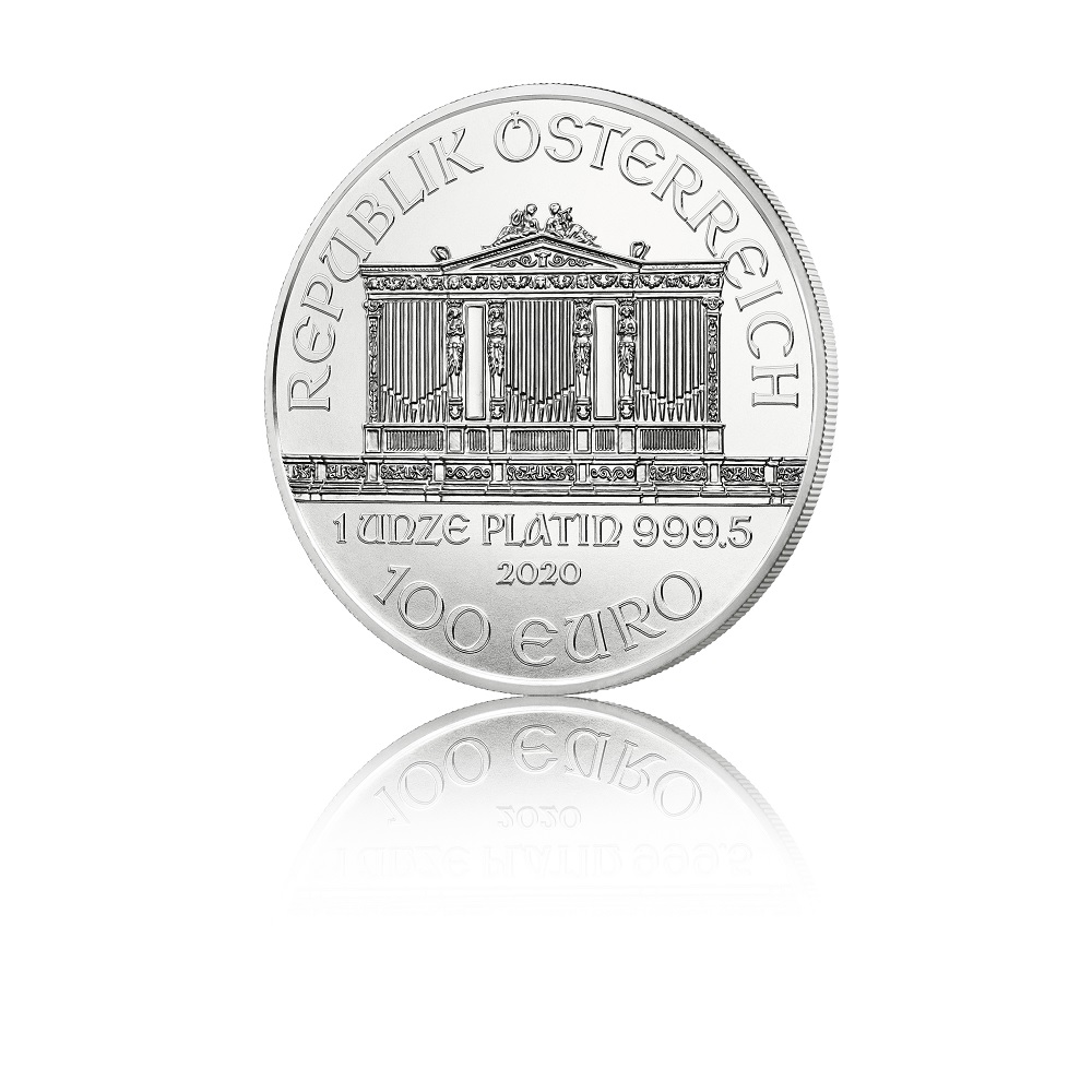 100 euro Austria 2020 1 ounce platinum - Vienna Philharmonic Orchestra Obverse (zoom)