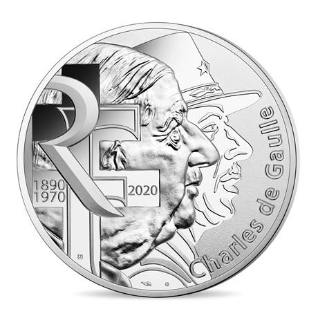 100 euro France 2020 argent - Charles de Gaulle Avers
