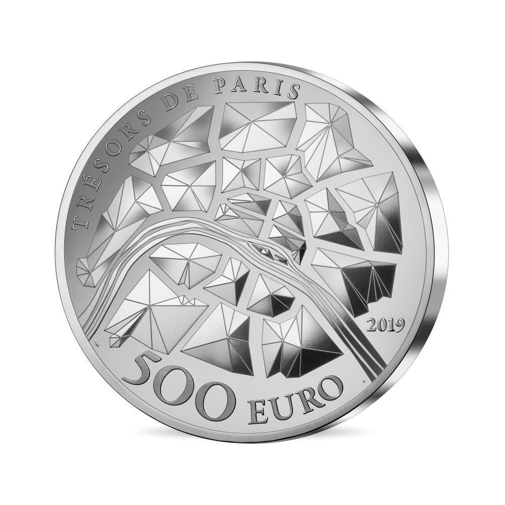 500 euro France 2019 Proof silver - Eiffel Tower Reverse (zoom)