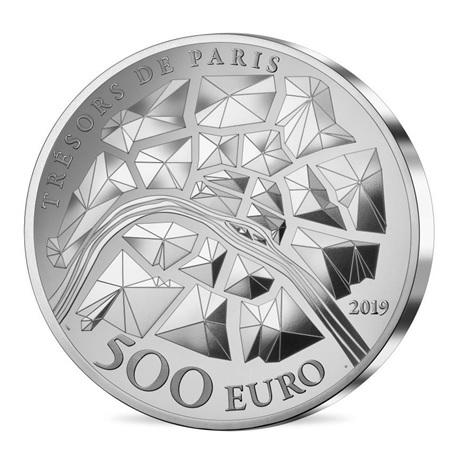 500 euro France 2019 argent BE - Tour Eiffel Revers