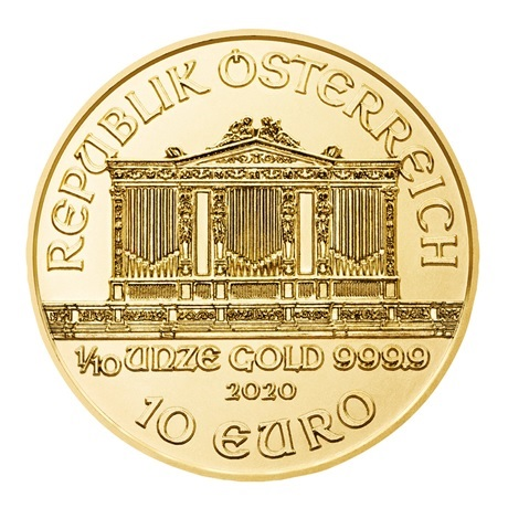 (EUR01.1000.2020.0,1.au.bullco.191) 10 euro Autriche 2020 0,10 once or - Philharmonique Avers