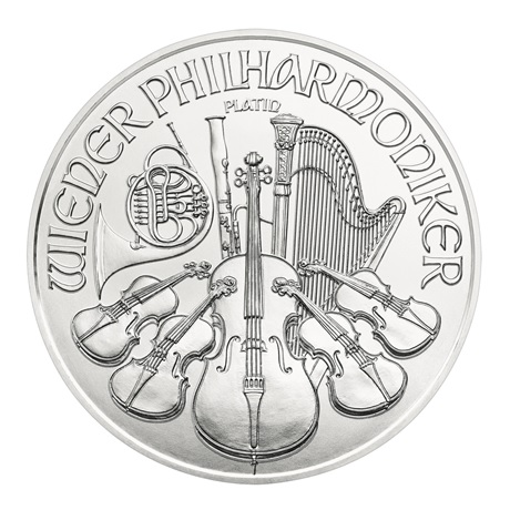 (EUR01.10000.2020.1.pt.bullco.21721) 100 euro Autriche 2020 1 once platine - Philharmonique Revers