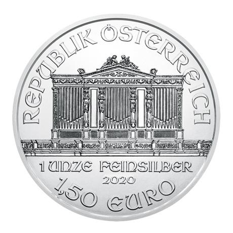 (EUR01.150.2020.1.ag.bullco.15369) 1,50 euro Autriche 2020 1 once argent - Philharmonique Avers
