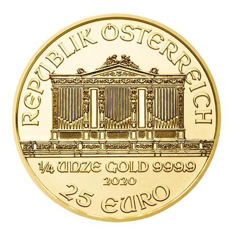 (EUR01.2500.2020.0,25.au.bullco.54) 25 euro Autriche 2020 0,25 once or - Philharmonique Avers