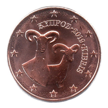 (EUR04.005.2019.0.spl.000000001) 5 cent Chypre 2019 Avers
