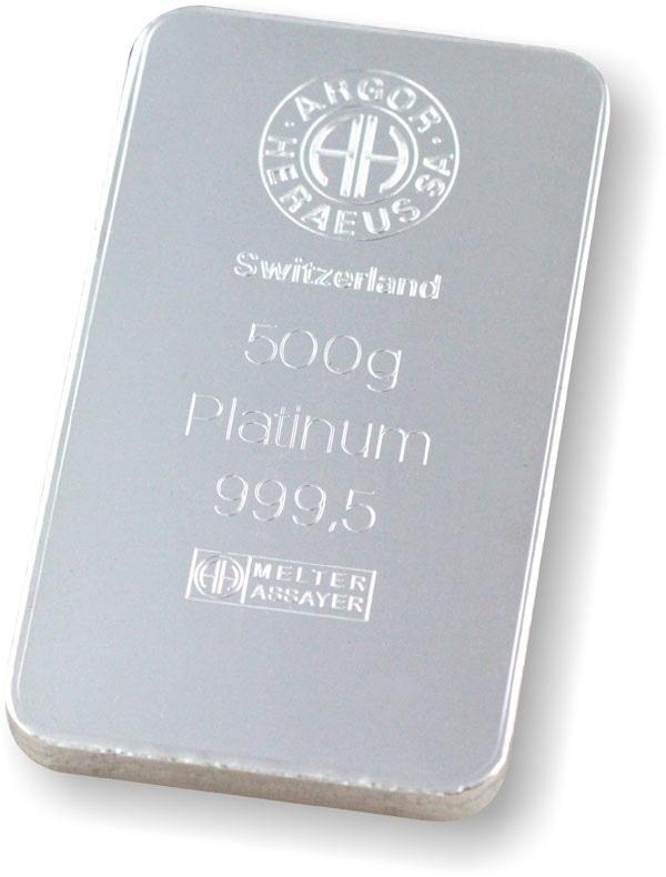 (LIN.Argor-Heraeus.500.pt.0) Platinum bar 500 grams Argor-Heraeus (zoom)